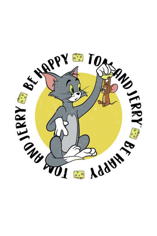 Ταπετσαρία τοιχογραφία Tom& Jerry - Be Happy