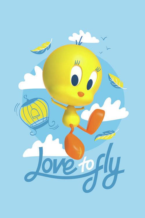 Ταπετσαρία τοιχογραφία Tweety - Love to fly