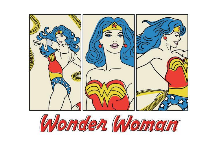 Ταπετσαρία τοιχογραφία Wonder Woman- Comics