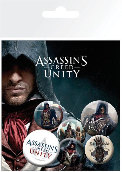 Значка комплект 4 броя Assassin's Creed Unity - Characters