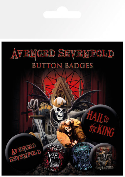 Значка комплект 4 броя AVENGED SEVENFOLD – hail to the king