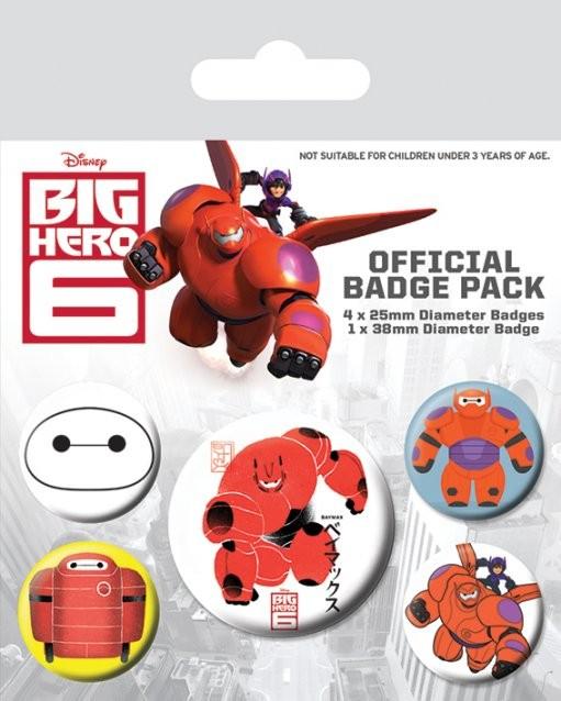 Значка комплект 4 броя Big Hero 6 - Baymax