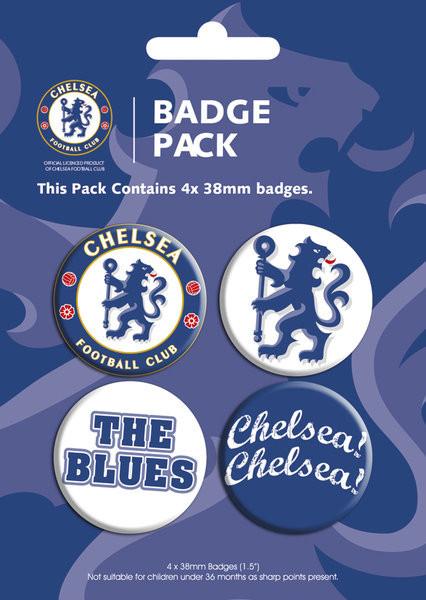 Значка комплект 4 броя CHELSEA - pack 1