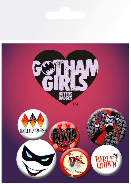 Значка комплект 4 броя DC Comics - Gotham Girls Harley Quinn