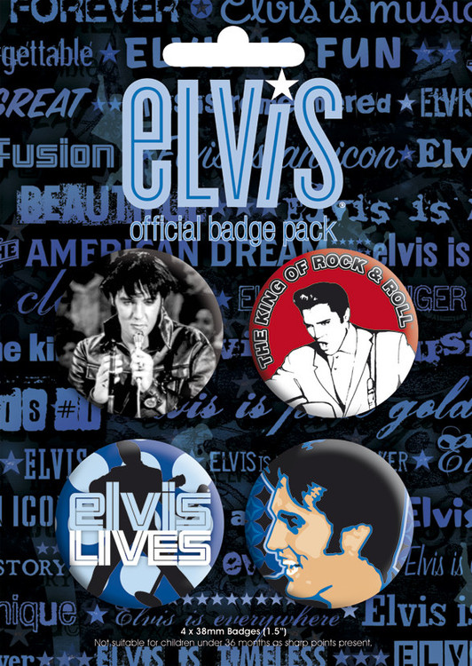 Значка комплект 4 броя ELVIS PRESLEY