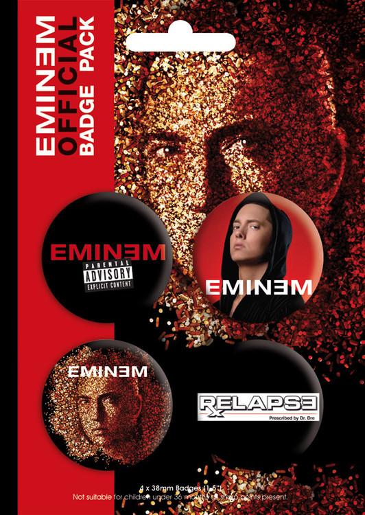 Значка комплект 4 броя EMINEM - relapse