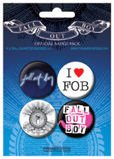 Значка комплект 4 броя FALL OUT BOY