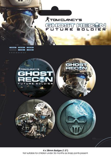 Значка комплект 4 броя GHOST RECON - pack 1