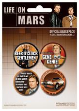 Значка комплект 4 броя  LIFE ON MARS