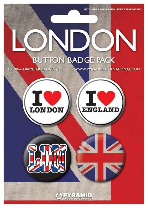 Значка комплект 4 броя LONDON - i love