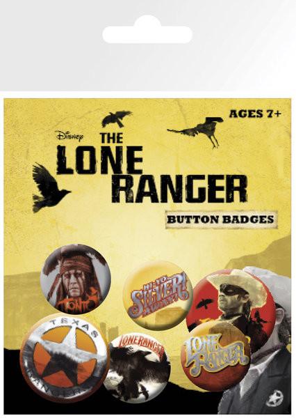 Значка комплект 4 броя LONE RANGER