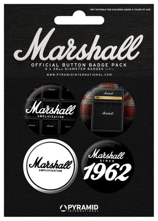 Значка комплект 4 броя MARSHALL - 1962
