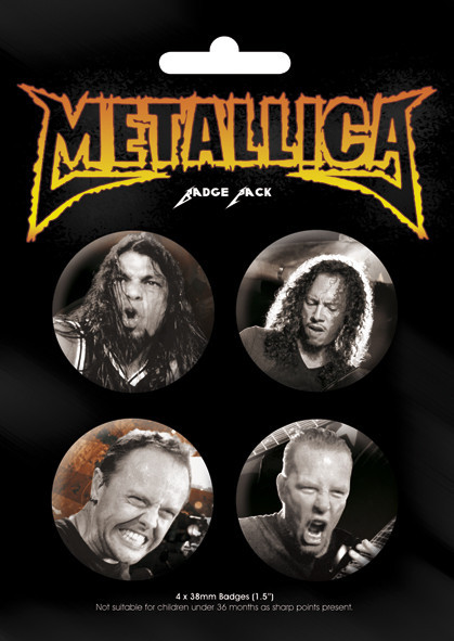 Значка комплект 4 броя METALICA - Band