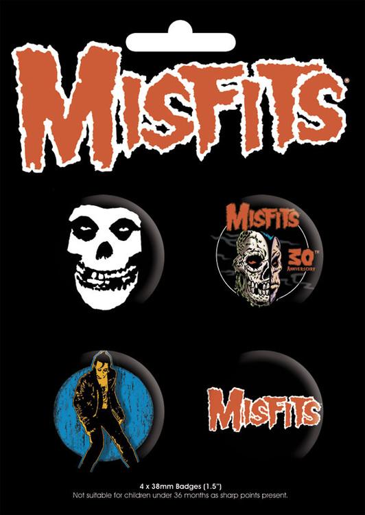 Значка комплект 4 броя MISFITS