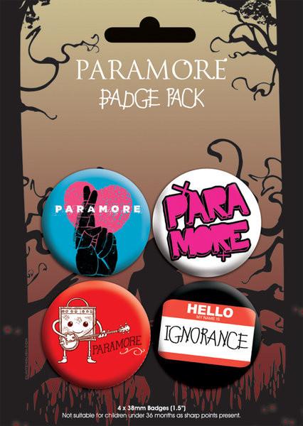 Значка комплект 4 броя  PARAMORE - pack 2