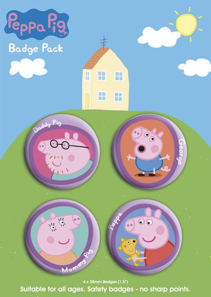 Значка комплект 4 броя PEPPA PIG