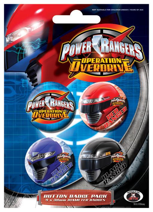Значка комплект 4 броя POWER RANGES - Group