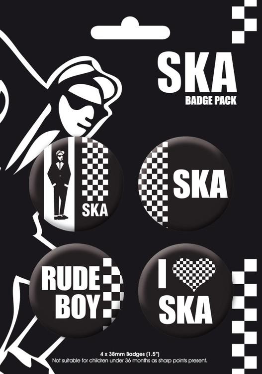 Значка комплект 4 броя SKA