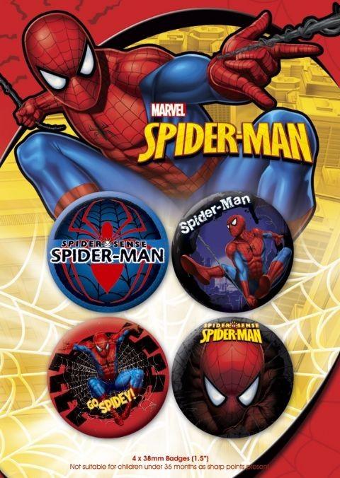 Значка комплект 4 броя SPIDER-MAN 2