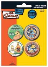 Значка комплект 4 броя THE SIMPSONS - moe's tavern