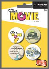 Значка комплект 4 броя THE SIMPSONS MOVIE - environmentaly