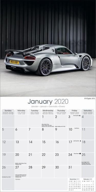 Календар 2021 Porsche