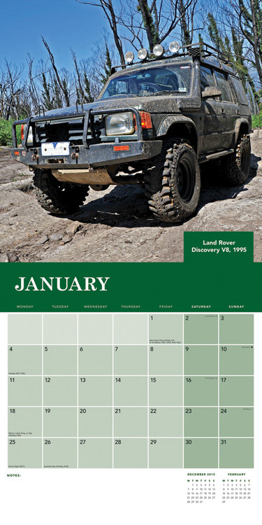 Календар 2018  Land Rover