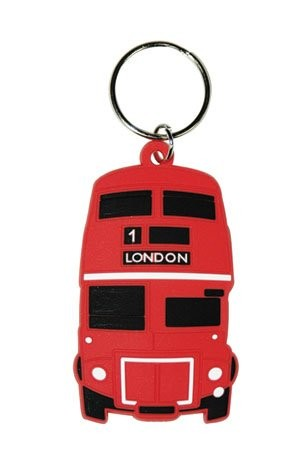 LONDON - red bus Ключодържатели - гумени