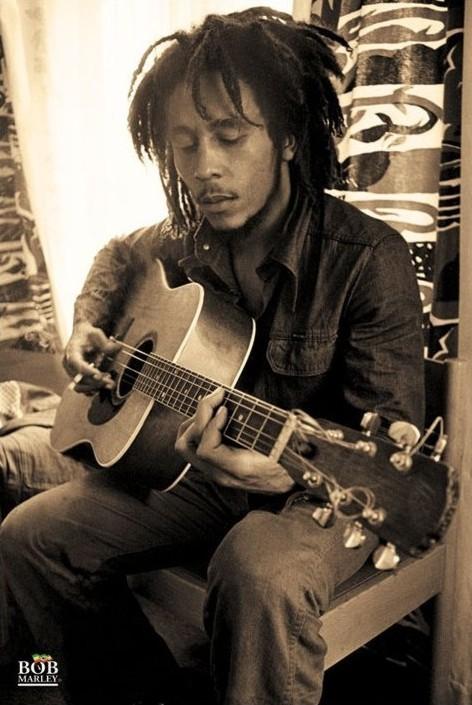 Плакат Bob Marley - sepia