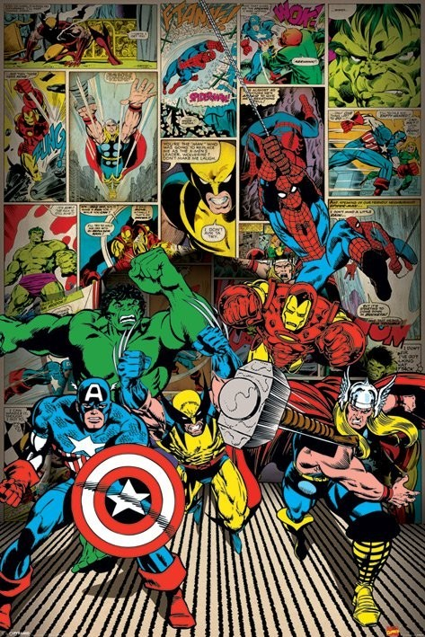 Плакат MARVEL COMICS - here come