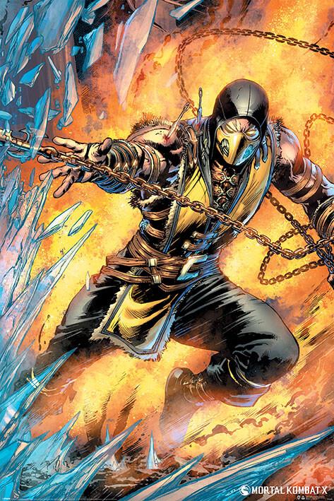 Плакат Mortal Kombat - Scorpion