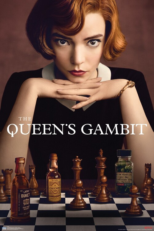Плакат Queens Gambit - Key Art