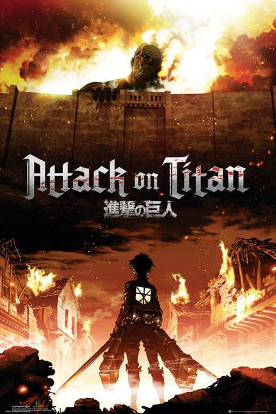 Attack on Titan (Shingeki no kyojin) - Key Art Плакат