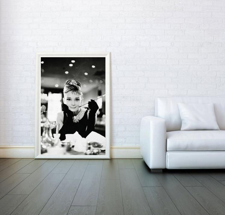 Audrey Hepburn - breakfast Плакат
