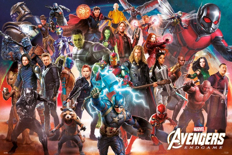 Avengers: Endgame - Line Up Плакат