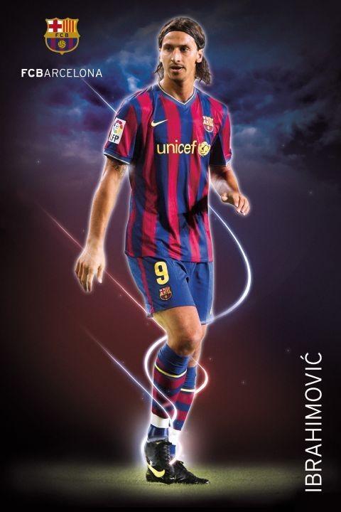 Barcelona - ibrahimovic 09/10 Плакат