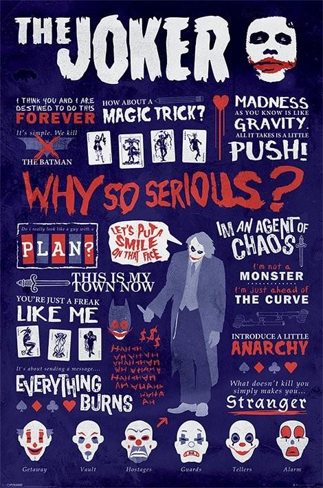Batman: The Dark Knight - Joker Quotographic Плакат