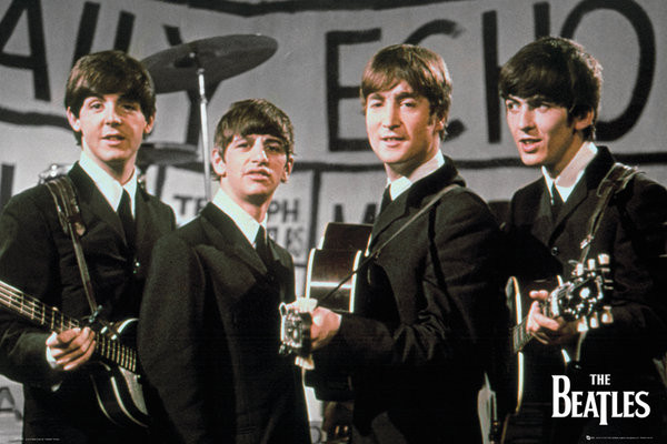 Beatles - daily echo Плакат