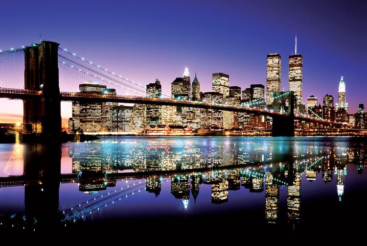 Brooklyn bridge - colour Плакат
