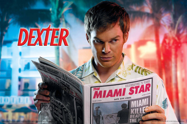 DEXTER - everyone moves to miami Плакат