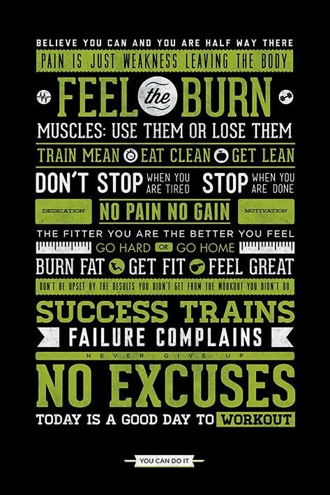Gym - Motivational Плакат