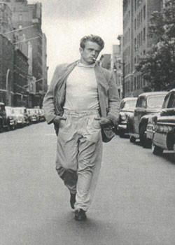 James Dean - Walking Плакат
