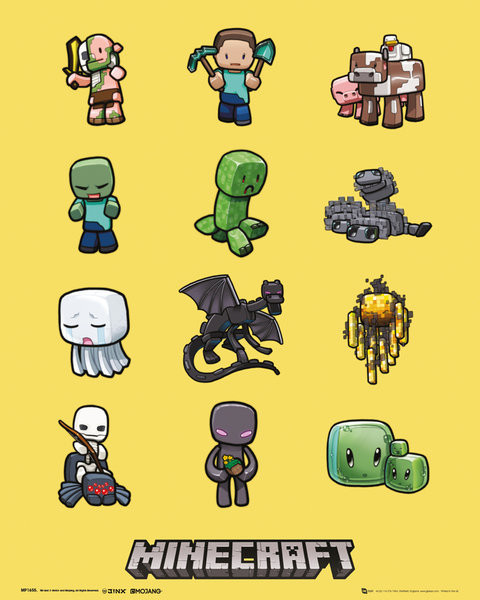 Minecraft - Characters Плакат