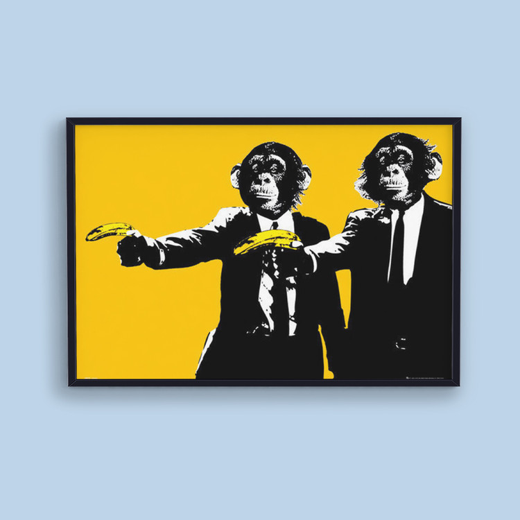 Monkeys - bananas Плакат