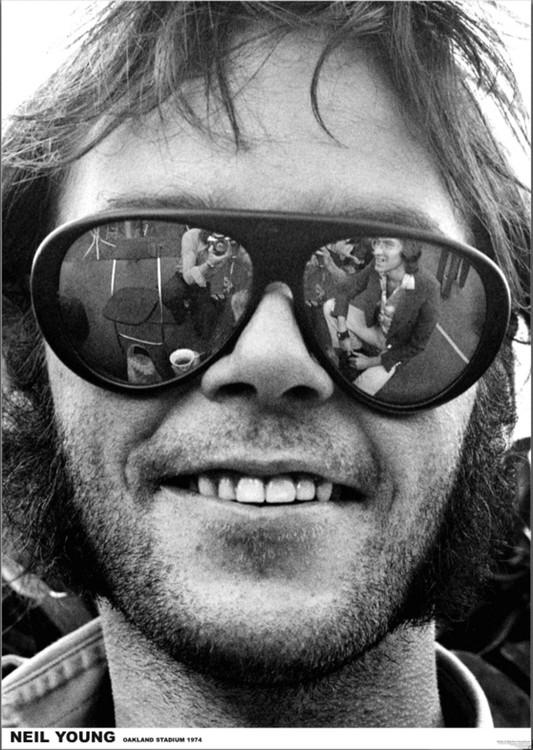 Neil Young - Oakland 1974 Плакат