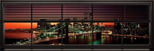 New York - window blinds Плакат