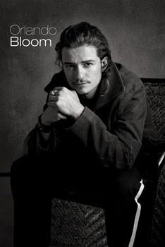 Orlando Bloom - sitting Плакат