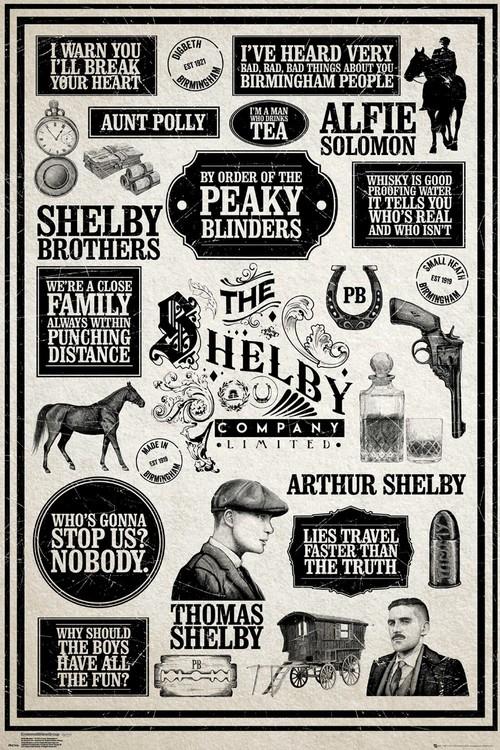 Peaky Blinders - Infographic Плакат