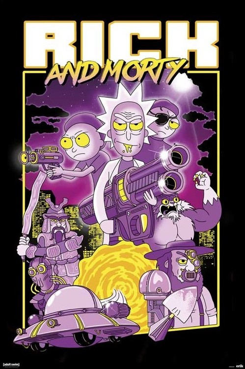Rick & Morty - Characters Плакат