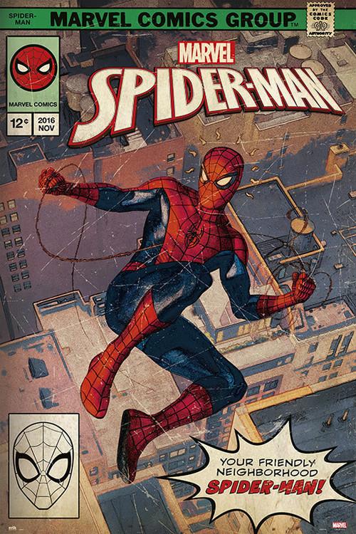 Spider-Man - Comic Front Плакат